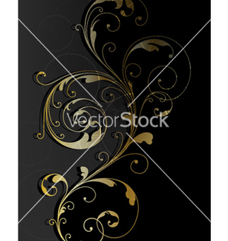 Free abstract gold floral background vector - Free vector #262503