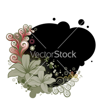 Free abstract floral design vector - Kostenloses vector #262793