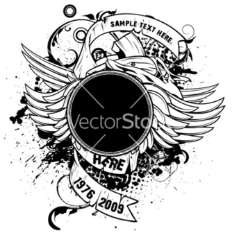 Free frame with scrolls vector - Free vector #263173