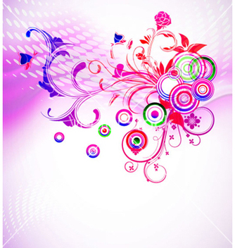 Free colorful abstract floral background vector - Free vector #263423