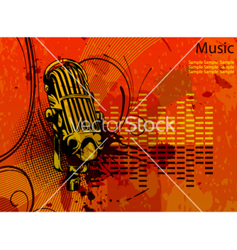 Free music background vector - Free vector #263673