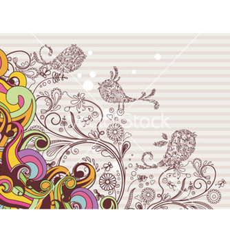 Free colorful background with abstract birds vector - Free vector #263793