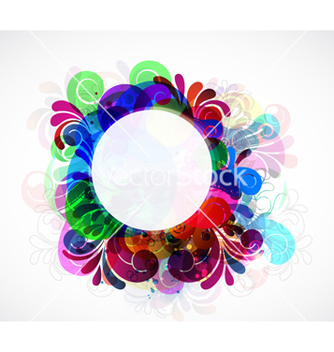 Free colorful floral frame vector - Kostenloses vector #263813