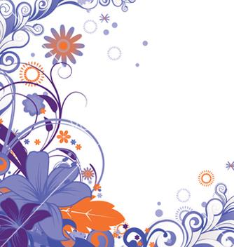 Free retro floral vector - Free vector #263843