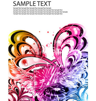 Free colorful music poster vector - vector #263863 gratis