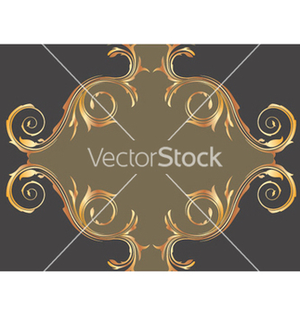 Free gold floral background vector - Free vector #264133