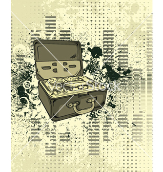 Free old tape recorder with grunge background vector - Free vector #264283