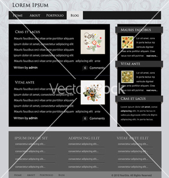 Free website template vector - Free vector #264413