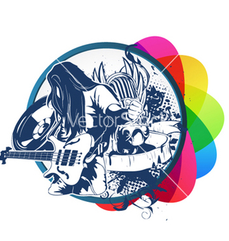 Free colorful music vector - Free vector #264423