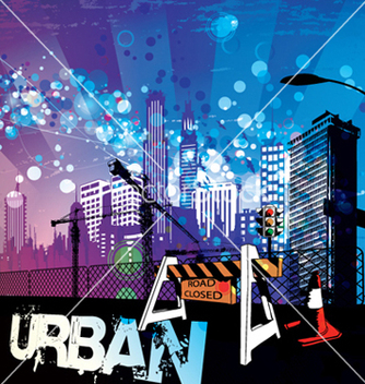 Free urban background vector - Free vector #264463