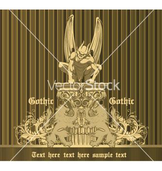 Free dark gothic emblem vector - Free vector #264633