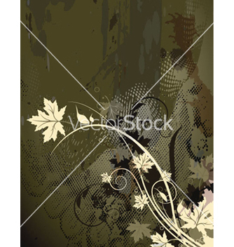 Free autumn floral background vector - Free vector #264943