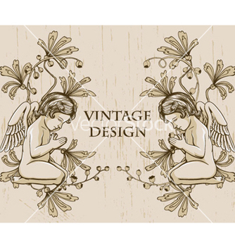 Free grunge floral frame with angels vector - Free vector #265183