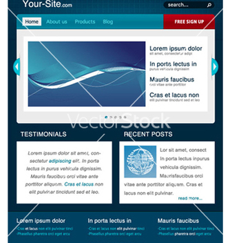 Free modern website template vector - Free vector #265423