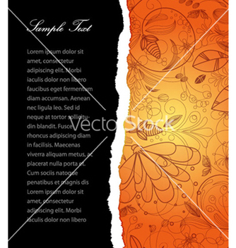 Free torn cardboard with floral vector - Free vector #265443