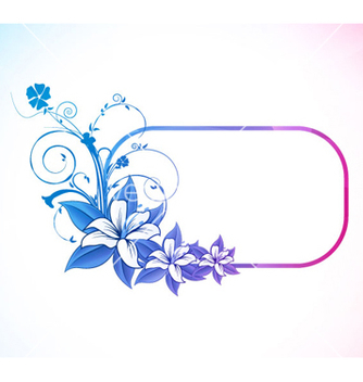Free abstract colorful floral frame vector - Free vector #265463