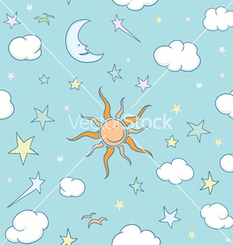 Free doodles seamless background vector - Free vector #265553