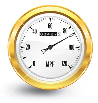 Free gold speedometer vector - бесплатный vector #265603