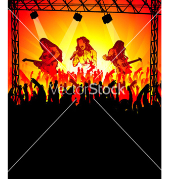 Free abstract music poster vector - Free vector #265623