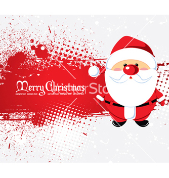Free santa with grunge vector - Free vector #265633