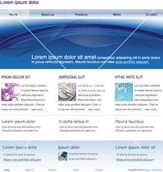 Free modern website template vector - Kostenloses vector #265673