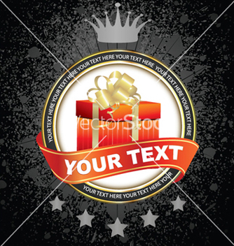 Free label with present vector - vector gratuit(e) #265733
