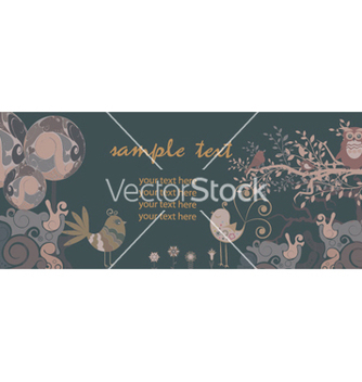 Free retro banner with floral vector - Free vector #265783
