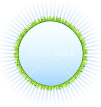 Free circle with grass vector - бесплатный vector #266793