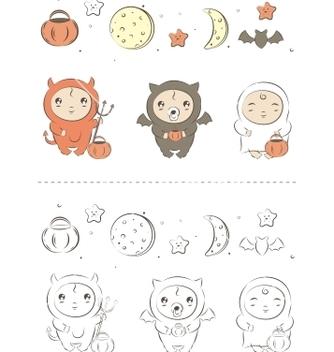 Free baby halloween vector - Free vector #266883
