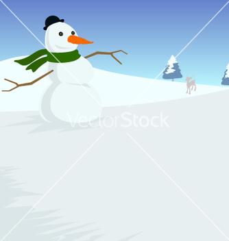 Free xmas snowman vector - бесплатный vector #267173
