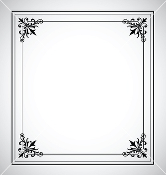 Free decorative vintage frame vector - Free vector #267283