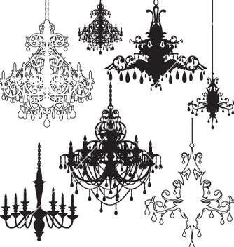 Free chandeliers vector - Free vector #267363