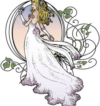 Free art nouveau bride vector - бесплатный vector #267383