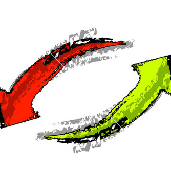 Free isolated red and green arrows vector - Free vector #267453