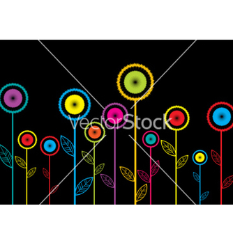 Free abstract flowers vector - Kostenloses vector #267603