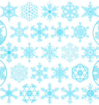 Free set of decorative snowflakes vector - Free vector #267823