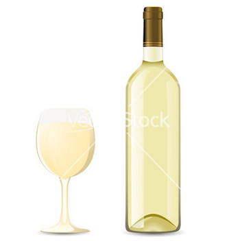 Free bottle and glass vector - vector gratuit #267903