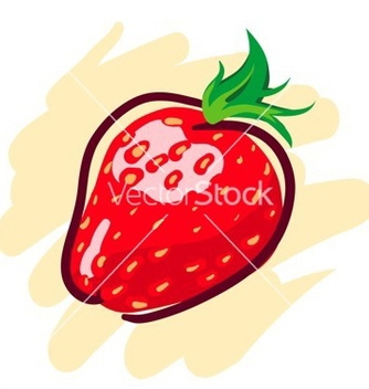 Free hand drawn strawberry vector - Free vector #267973