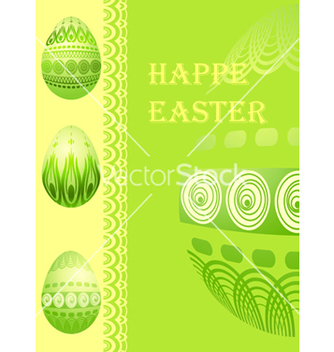 Free easter card with eggs vector - vector gratuit #268043