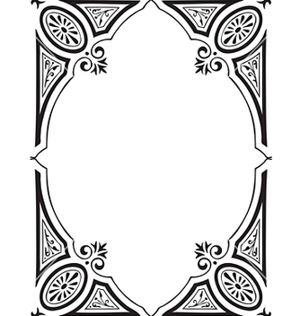 Free antique frame engraving vector - Free vector #268053