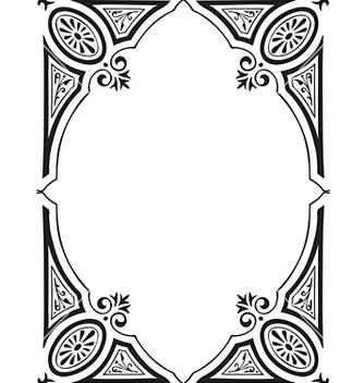 Free antique frame engraving vector - бесплатный vector #268053