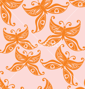 Free butterflies seamless background vector - Free vector #268123