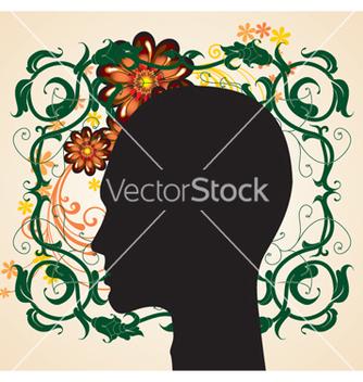 Free floral head vector - Free vector #268473