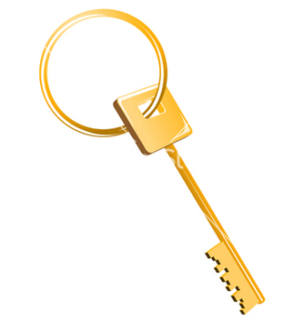 Free gold key vector - Free vector #268713