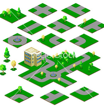 Free road map vector - Free vector #268773