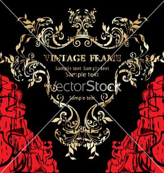 Free vintage frame vector - бесплатный vector #268873