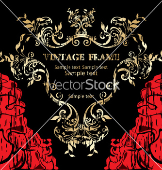 Free vintage frame vector - vector gratuit #268873