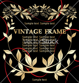 Free vintage frame vector - Free vector #268923