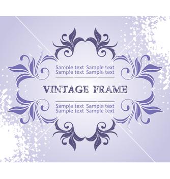 Free vintage frame vector - Kostenloses vector #268963