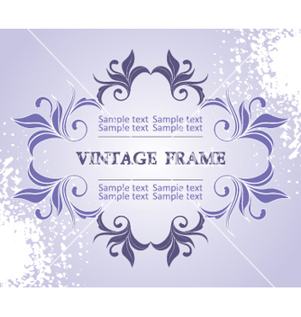 Free vintage frame vector - vector gratuit #268963